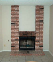 Rebuilt fireplace