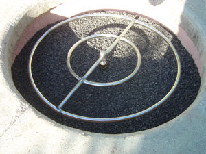 outdoor metal fire ring
