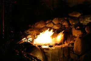 outdoor custom fire and water waterfall fountain 15