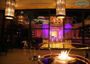 Modern indoor fire tables - lure bar las vegas