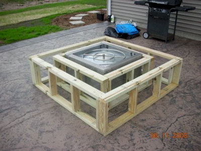 hand made fire pit