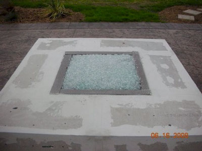 outdoor fire pits with fire glass rocks