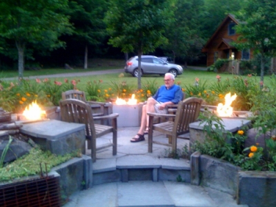 remodeled fire pit patio