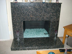 burning glass fireplace sample