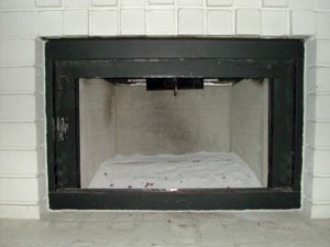 sand in fireplace