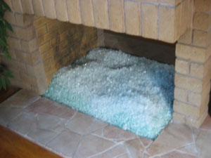 fireglass for propane fireplace